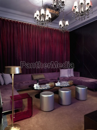lounge area inside nightclub
