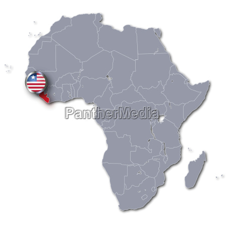 africa map with liberia