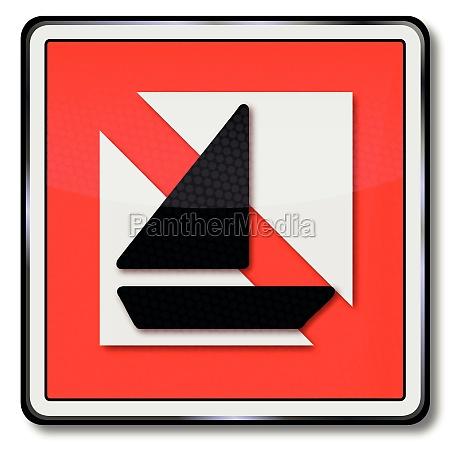shipping sign ban for sailing ships