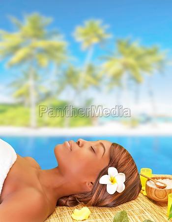 enjoying spa resort