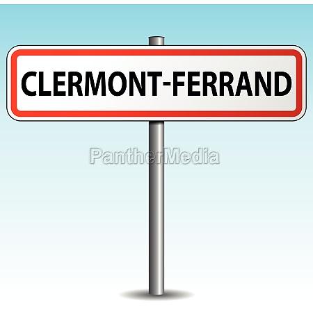 vector clermont ferrand signpost
