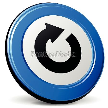 vector refresh 3d icon