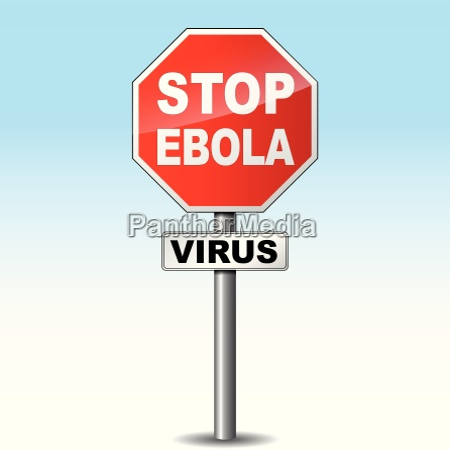 vector ebola virus sign