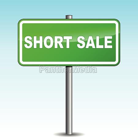 vector short sale signpost