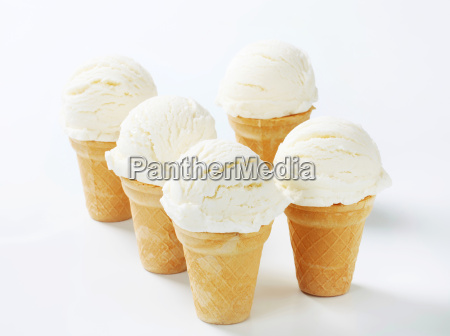 white ice cream cones