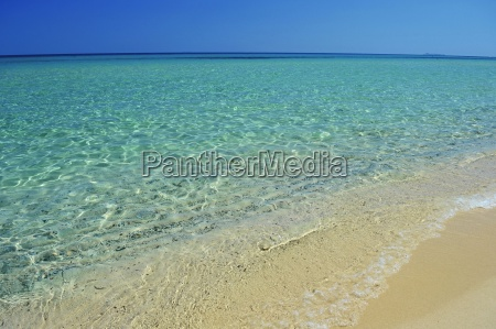 beach and clear sea water