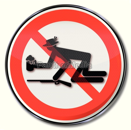 prohibition sign for drunks at buergerfest