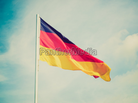 retro look flag of germany