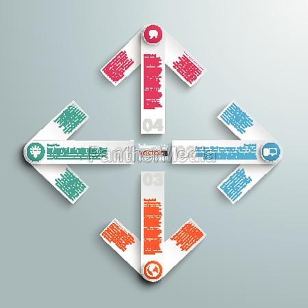 4 white arrows cross compass
