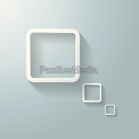 abstract white rectangle thought bubble