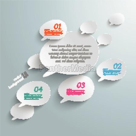 bevel speech bubbles infographic design