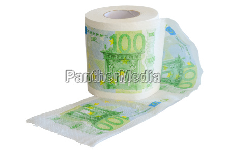 banknotes 100 euro printed on the