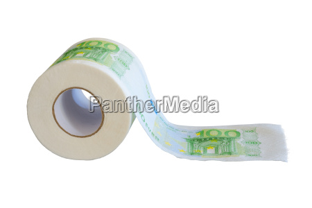 hundred euro banknotes paint on tissue