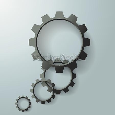 black gears speech bubble