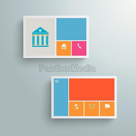 businesscard infographic paper design piad