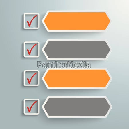 checklist banners long hexagons piad