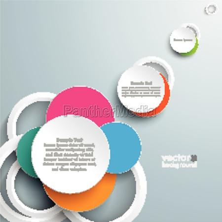 colored circles sunlight design
