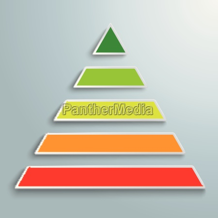colored pyramide infographic piad