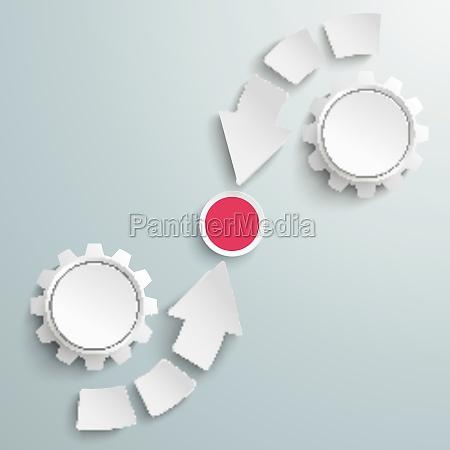 cycle arrows 6 pieces centre piad
