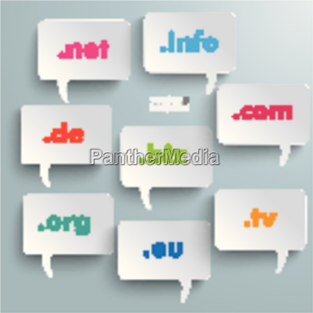 domain speech bubbles