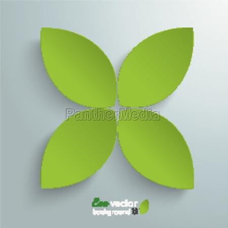 green cross leaves