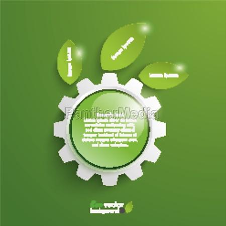 green, technology, gear, leaves, green, button - 11399772