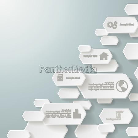 infographic long hexagons