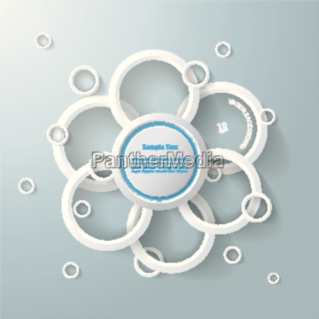 infographic white rings circles flower