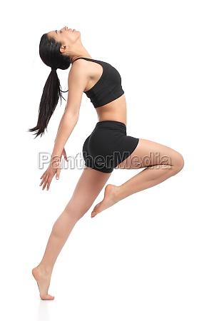 fitness woman dancing doing aerobic exercises
