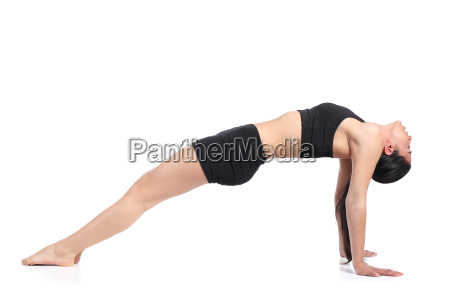 fitness woman stretching with a flexibility