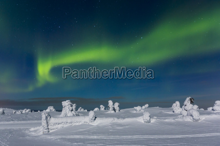 polar lights aurora borealis kittilae finland