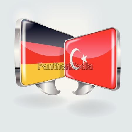 speech bubbles in german and turkish