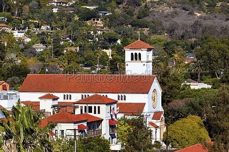 white adobe methodist church cross santa