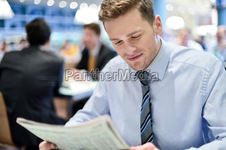 young businessman in a restaurant