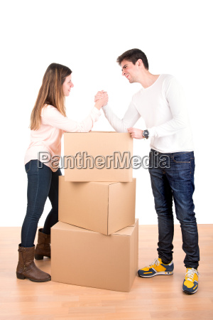 arm wrestling couple