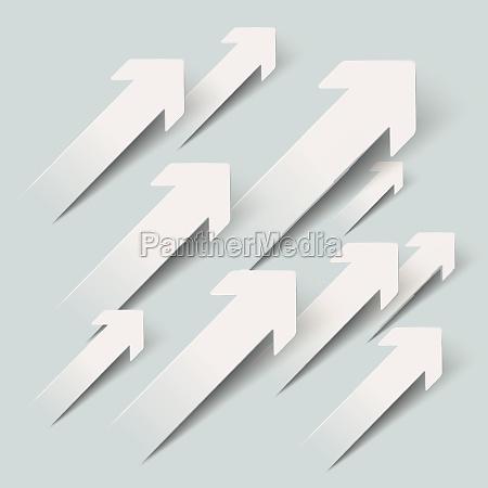 paper arrows growth piad