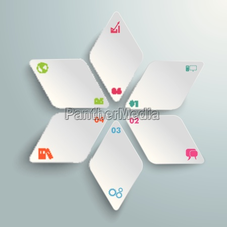 rhombus star infographic piad