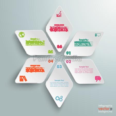 rhombus star infographic