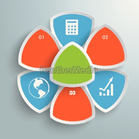 round triangles flower infographic piad