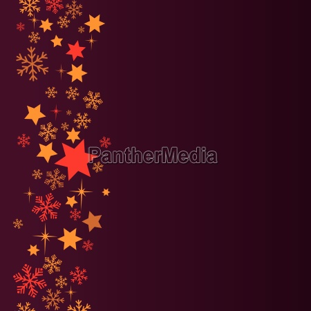 snow and stars background at night