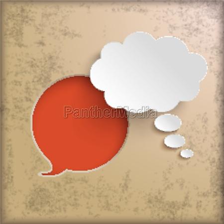 speech bubble hole vintage background