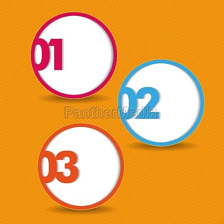 three options orange stripes background