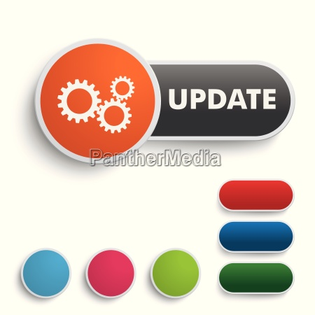 update button black orange piad