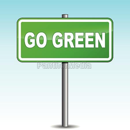 vector go green signpost