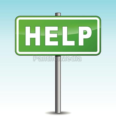 vector help signpost
