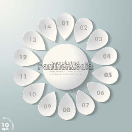 white flower grey numbers