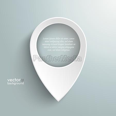 white location marker