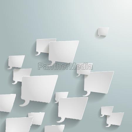 white rectangle speech bubbles