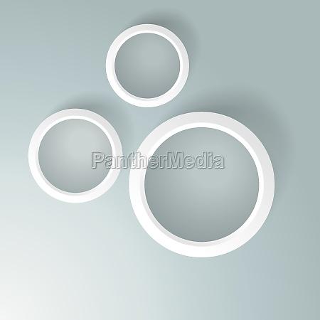 three white rings
