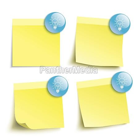 yellow sticks blue buttons bulbs